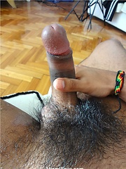 Emiliano get naked and then work over that uncut Latin meat until he shoots his hot load